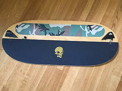 """Wood SKIMBOARD  42"""" 100 cm long with 2 attachable CWB FINS"""