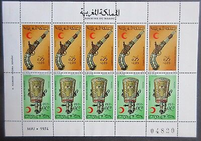 Morocco 1974 Moroccan Firearms/Red Crescent Sheet. MNH.