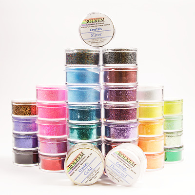 Rolkem Non Toxic Crystal/glitter For Cakes/chocs/macarons 10Ml Assorted Colours