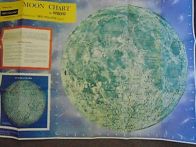 1969 Sperry Rand, New Holland Map of the Moon by Hammond