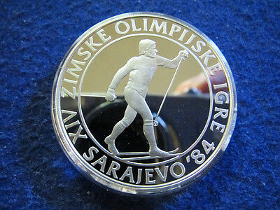 1984 Yugoslavia Silver Proof 500 Dinara - Cross Country - Free U S Shipping