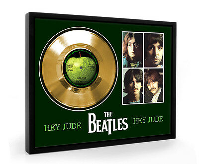 Beatles Hey Jude Framed Gold Disc Display Vinyl (C1)