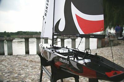 NEW Monsoon Sailboat Ready to Run RC 2.4Ghz Model Boat RTR Six Foot Height!