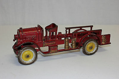 Antique Kenton Cast Iron Fire Ladder Truck Original VG Must L@@K