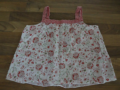Gorgeous Baby Girls Summer Strappy Pink Floral Top Petit Bateau 24 Months