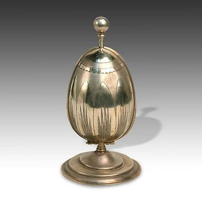 Antique Egg-Form Perfume Container Silver Gold India Late 19Th / Early 20Th C.