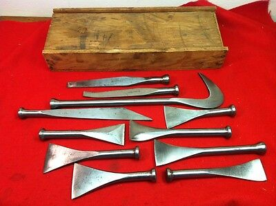 Vtg WWII John Stortz Shipwright Ship Caulking Iron Complete Set In Original Box!