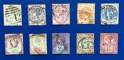 GB 10 Stamps From Queen Victoria In Nice Condition And Great Value (Lot 301)