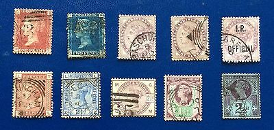 GB 10 Stamps From Queen Victoria In Nice Condition And Great Value (Lot 302)