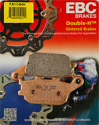 EBC Brakes Motorcycle Brake Pads Part# FA174HH Rear 61-1743 15-174H
