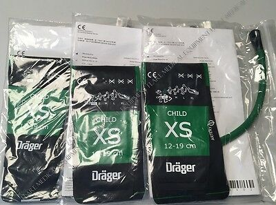 Drager NIBP cuff Child XS Lot of 3 MP00912-00