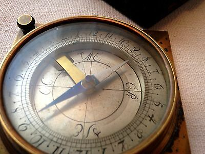 Fine antique cased German miner's compass 18th century