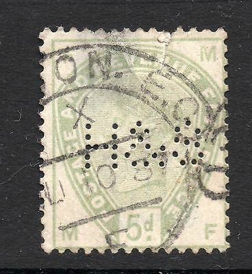 Queen Victoria 5d SG 193 Used Perfin As Scanned Cat £210.00 As Used