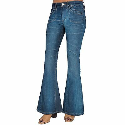 S&P by Standards and Practices Vintage Boho Patchwork Flare Bell Bottom Jeans