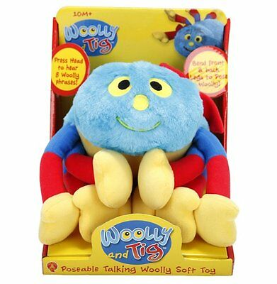 CBeebies Woolly and Tig Spider POSEABLE TALKING WOOLLY 20cm Plush SOFT TOY