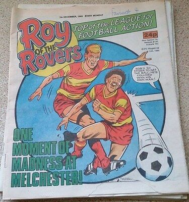 Roy of the Rovers 07th December 1985 Combined Postage Offered For Multiple Buys