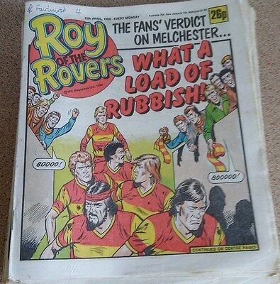 Roy of the Rovers 12th April 1986 Combined Postage Offered For Multiple Buys