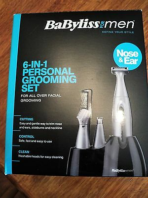 ****babyliss For Men~~6 In 1 Personal Grooming Kit~~Brand New In Box****