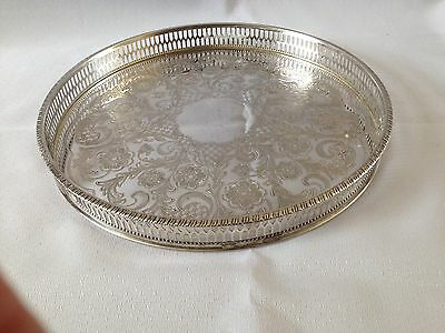 Vintage Viners Silver Plate Gallery Tray (ref 1)