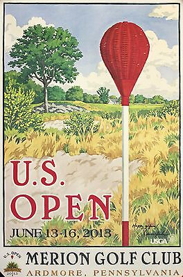 Golf, US Open SIGNED Poster, Merion Golf Club, Ardmore Pennsylvania 2013