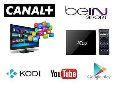 Android Tv X96 Quad Core Android 6.0 Tv Box Canal +, Peliculas Para Sony