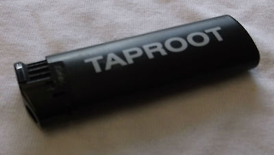 TAPROOT Gift 2000 UK promo only black Bic lighter