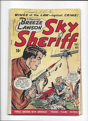 "Sky Sheriff #1 [1948 Gd] ""prowl-Plane""  Great Cover!"