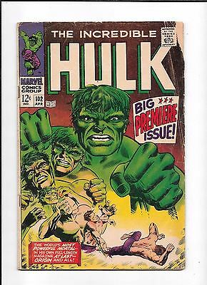 The Incredible Hulk #102 ==> Vg- Start Of His Own Series Marvel Comics 1968