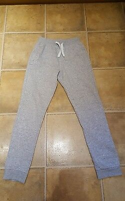 Boys Grey Linen Track Suit Bottoms Aged 11 Years From Next