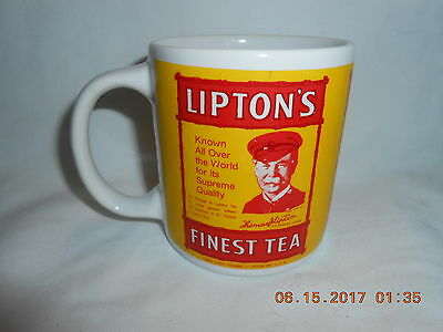 Vintage Old Style Lipton Tea Cup Mug Must See!! Lipton Tea Captain Excellent
