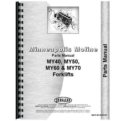 New Minneapolis Moline MY40 Forklift Parts Manual