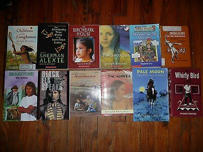 Lot of 19 NATIVE AMERICAN Indian FICTION Non-Fiction Chapter Books HISTORY Tales