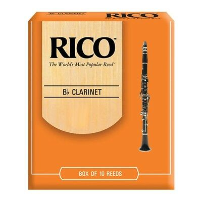 Rico By D'Addario Unfiled Bb Clarinet Reeds - Box of 10, Strength 1.5 - 4