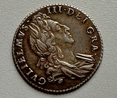 King William Iii Toned Sixpence 1697 (355)