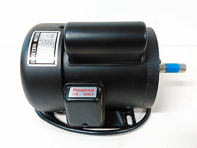 "Induction Motor Electric Motor 3/4 HP 1725 Rpm 1-PH 115V 3/4"" Shaft - NICE!"