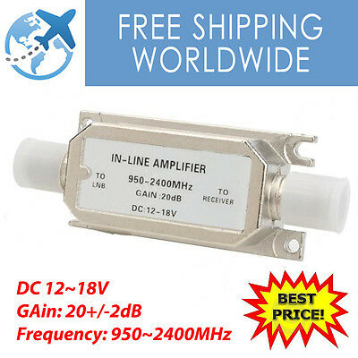 In-Line Signal Amplifier 20dB Axing Sky Satellite signal Booster 950~2400MHz