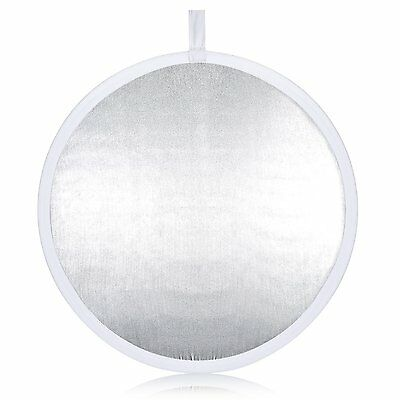 """Neewer® Pro 2-in-1 32""""/80cm Round Collapsible Reflector Diffuser White/Silver A"""