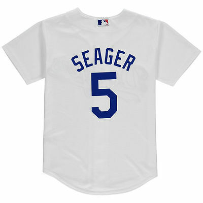 Los Angeles LA Dodgers Majestic Youth Cool Base Corey Seager Home Jersey