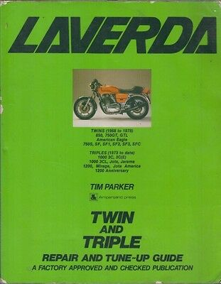 Laverda 650 750 Sf1-3 Sfc 1000 1200 Jota Jarama Mirage 1968-1979 Workshop Manual