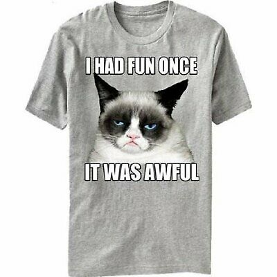 70e49386fb GRUMPY CAT QUOTES I Had Fun Once It Was Awful Design Couple T-Shirts ...