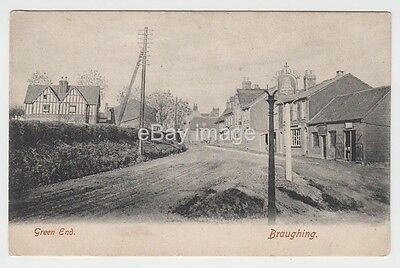 Braughing - Green End street view (Bedwell) c.1906 postcard nr Buntingford Ware