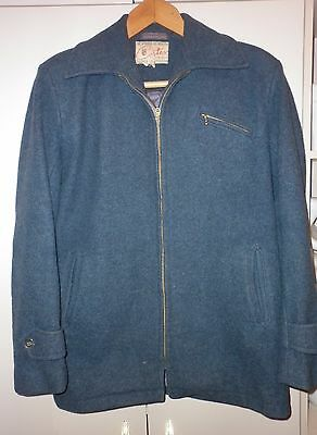 VINTAGE CORTEX SYDNEY 1950s WOOL/MOHAIR ZIP JACKET SIZE 36  EXCELLENT CONDITION