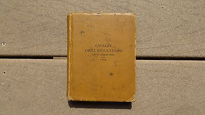 WW1 US Army Military Cavalry Drill Regulations 1916 Book