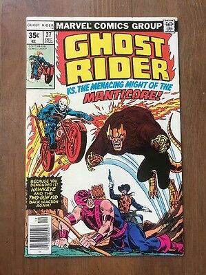 Ghost Rider #27  Dec.1977 VF VS. The Menacing might of the Manticore!