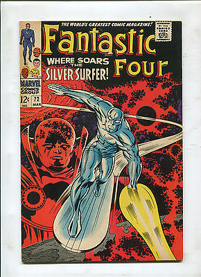 Fantastic Four #72 (8.5) Where Soars The Silver Surfer!