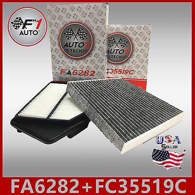 Fa6282 Fc35519C(Carbon) Engine & Cabin Air Filter Accord 13-17 Tlx 15-17 2.4L