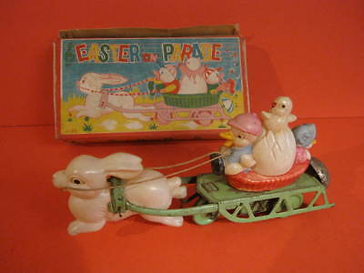 All Original Easter On Parade Celluloid + Tin Wind Up + Box Occupied Japan 1946