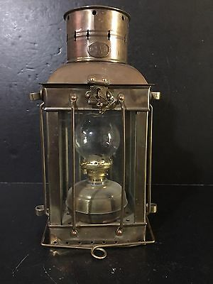 1930 Vintage Neptune Maritime Nautical Ship Boat Oil Lamp Brass Lantern