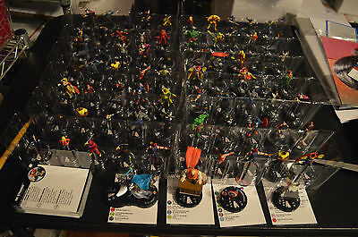LOT of 74 HEROCLIX AVENGERS DEFENDERS WAR, C, UC, Rs, Super Rares, Chase 069 NEW