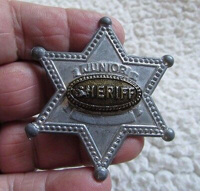 JUNIOR SHERIFF badge - approx 2.25 inch wide